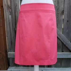 NWT Ann Taylor Salmon Pink Pencil Skirt w/Pockets